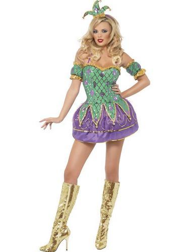 Harlequin Shine Fancy Dress Costume Thumbnail 2