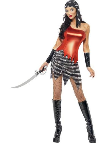 Flashy Pirate Fancy Dress Costume Thumbnail 2