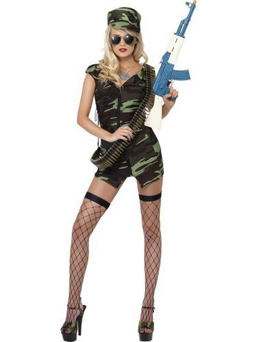 Combat Lady Fancy Dress Costume Thumbnail 2