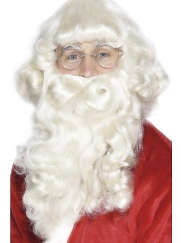 Santa Platinum Wig and Beard Set Thumbnail 1