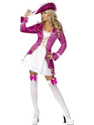 Pink Pirate Treasure Fancy Dress Costume Thumbnail 1
