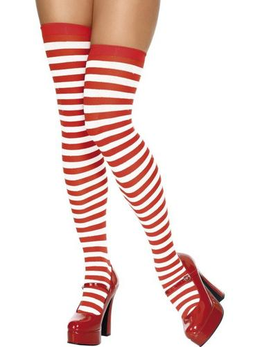 Stockings Red and White thighHigh Thumbnail 1