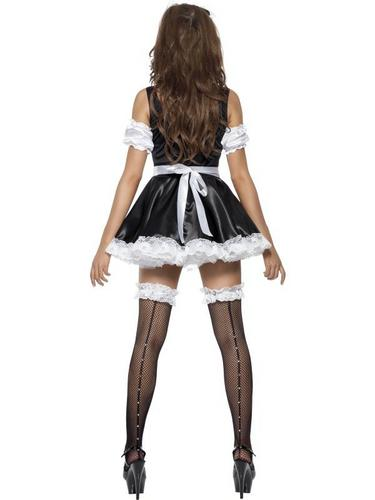 Flirty French Maid Fancy Dress Costume Thumbnail 3
