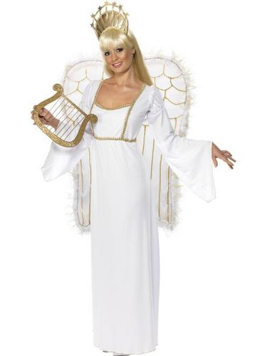 Ladies Angel Fancy Dress Costume Thumbnail 2