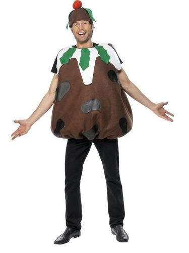 Christmas Pudding Fancy Dress Costume Adults Thumbnail 1