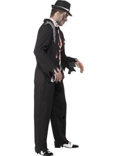 Zombie Gangster Fancy Dress Costume Thumbnail 3