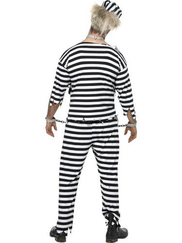 Zombie Convict Fancy Dress Costume Thumbnail 2