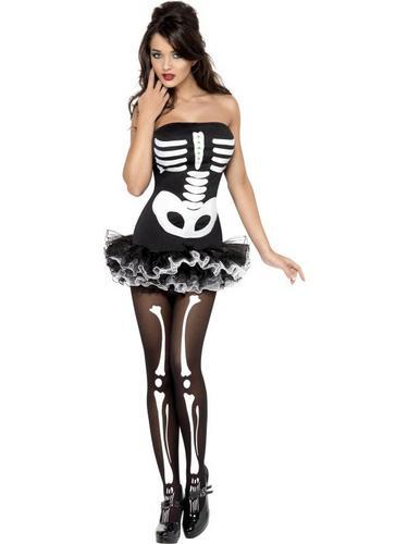 Fever Skeleton Fancy Dress Costume Thumbnail 2