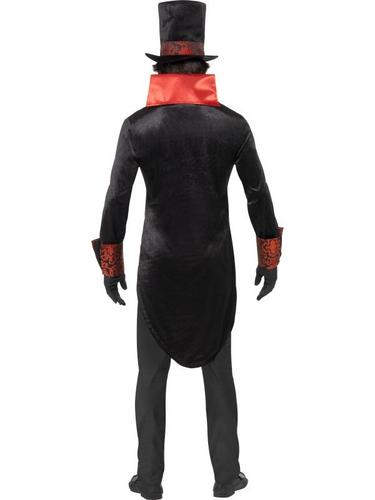 Black and Red Dracula Fancy Dress Costume Thumbnail 2