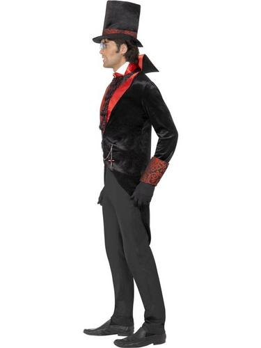 Black and Red Dracula Fancy Dress Costume Thumbnail 3