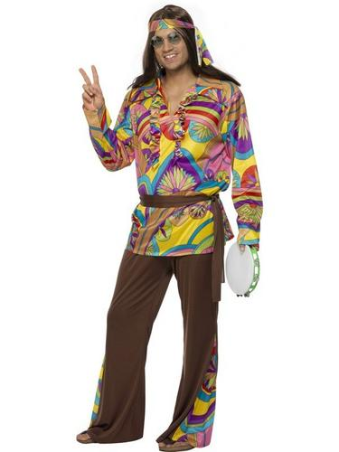 Psychedelic Hippie Fancy Dress Costume Thumbnail 1