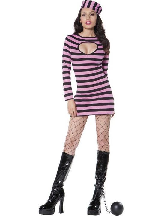 Convict Costume Pink Thumbnail 1