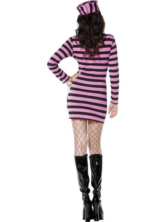 Convict Costume Pink Thumbnail 3