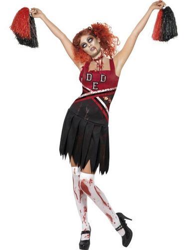 Horror Cheerleader Fancy Dress Costume Thumbnail 1