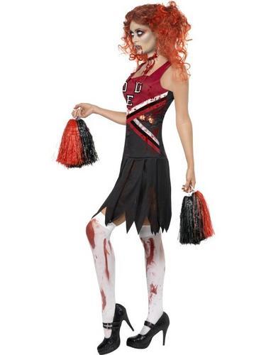 Horror Cheerleader Fancy Dress Costume Thumbnail 3
