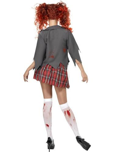 Zombie Schoolgirl Fancy Dress Costume Thumbnail 2