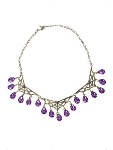 Gothic Spiderweb Necklace Thumbnail 1