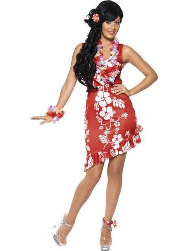 Hawaiian Beauty Fancy Dress Costume Thumbnail 1