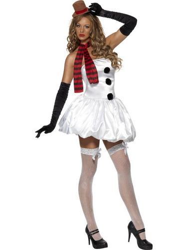 Sexy Snowman Fancy Dress Costume Thumbnail 1