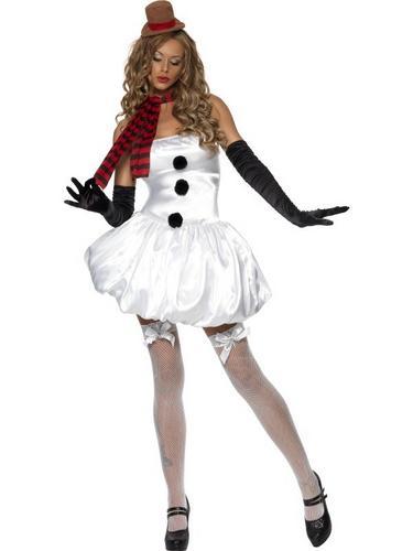 Sexy Snowman Fancy Dress Costume Thumbnail 2