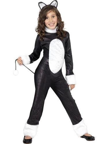 Girls Cool Cat Fancy Dress Costume Thumbnail 1