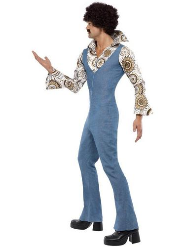 Gents Groovy Dancer Fancy Dress Costume Thumbnail 3