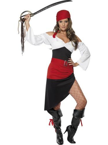 Sassy Pirate Wench Fancy Dress Costume Thumbnail 1