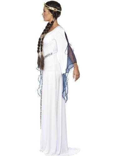 Medieval Maid Fancy Dress Costume Medium Thumbnail 3