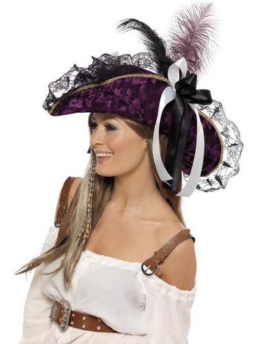 Marauding Pirate Fancy Dress Hat Thumbnail 2