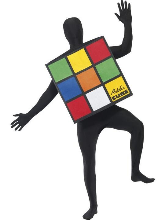 Rubiks Cube Unisex Fancy Dress Costume Thumbnail 1