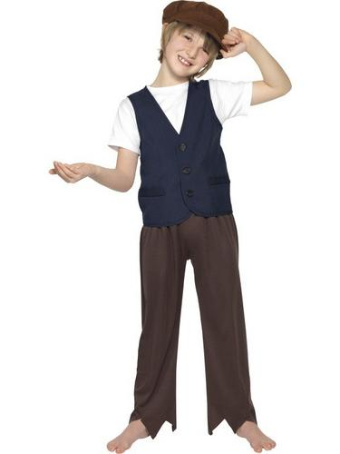 Victorian Poor Peasent Boy Fancy Dress Costume Thumbnail 1