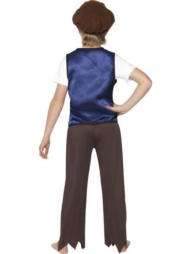 Victorian Poor Peasent Boy Fancy Dress Costume Thumbnail 2