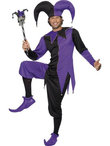 Medieval Jester Fancy Dress Costume Thumbnail 1