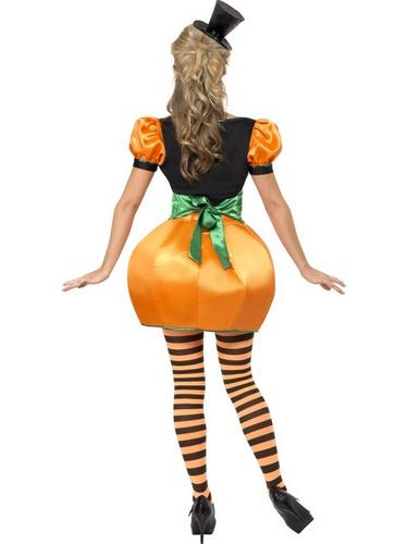 Ladies Pumpkin Fancy Dress Costume Thumbnail 2