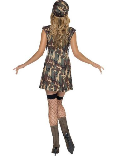Sexy Army Girl Fancy Dress Costume Thumbnail 3