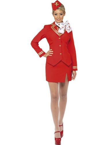Trolley Dolly Fancy Dress Costume Thumbnail 1