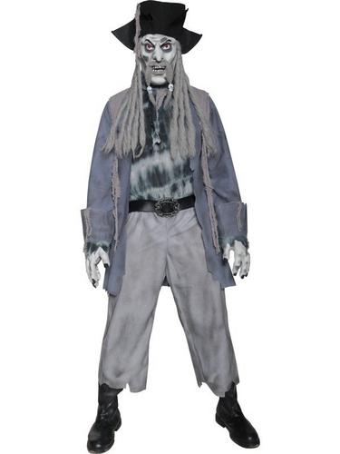 Zombie Ghost Pirate Fancy Dress Costume Thumbnail 1