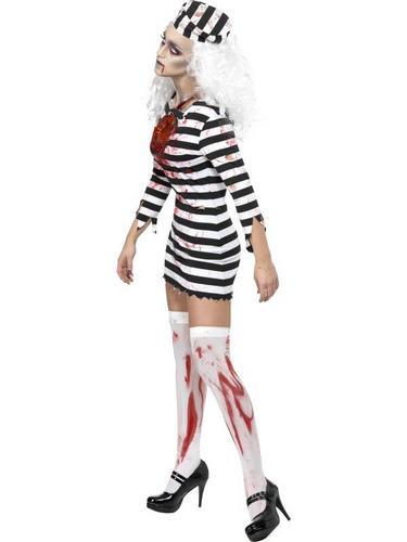 Female Zombie Convict Fancy Dress Costume Thumbnail 3