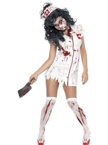 Zombie Nurse Fancy Dress Costume Thumbnail 1