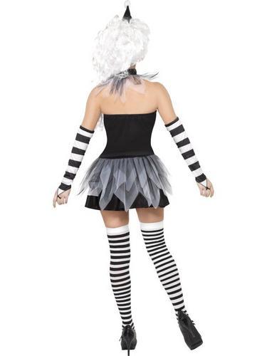 Sinister Pierrot Fancy Dress Costume Thumbnail 2