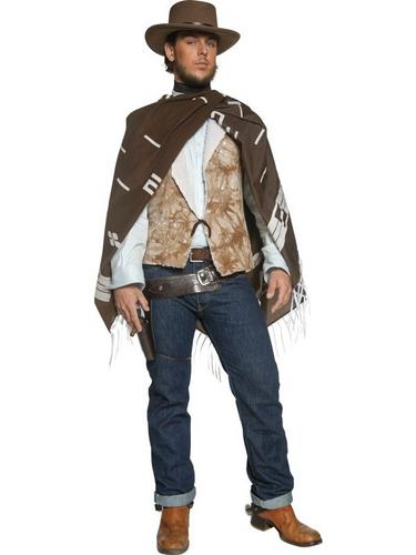 Authentic Western Wandering Gunman Fancy Dress Costume Thumbnail 2