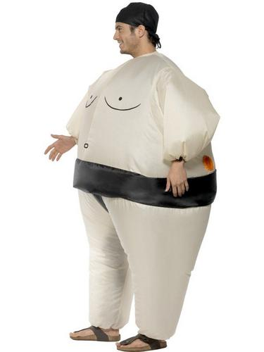 Sumo Wrestler Inflatable Fancy Dress Costume Thumbnail 2