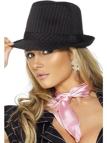 Gangster Fancy Dress Hat Pinstripe Thumbnail 1