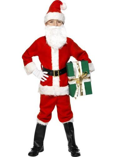 Boys Santa Fancy Dress Costume Thumbnail 1