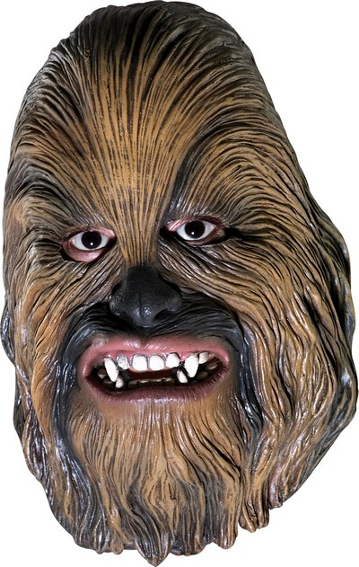 Chewbacca 3/4 Vinyl Child Fancy Dress Mask Thumbnail 1