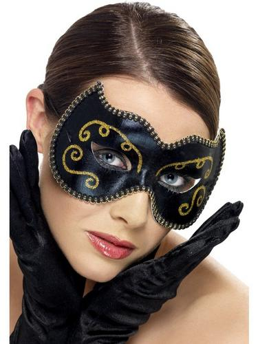 Eye Mask Persian Black and Gold Thumbnail 1