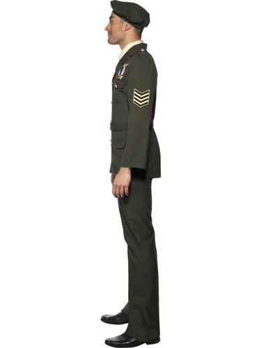 Male Wartime Officer Fancy Dress Costume Thumbnail 3