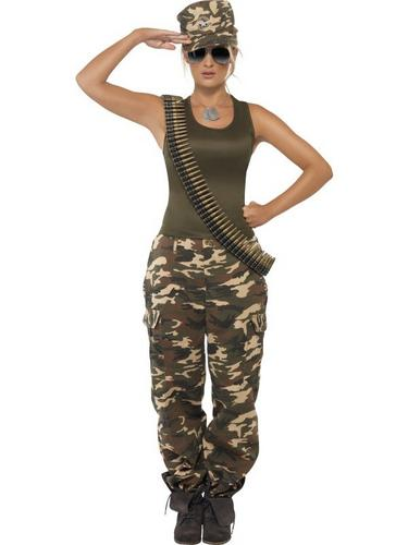 Khaki Camo Fancy Dress Costume Thumbnail 1
