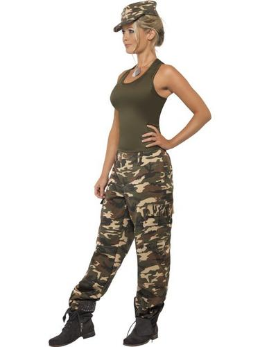 Khaki Camo Fancy Dress Costume Thumbnail 3