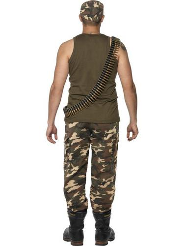 Male Khaki Camo Fancy Dress Costume Thumbnail 3
